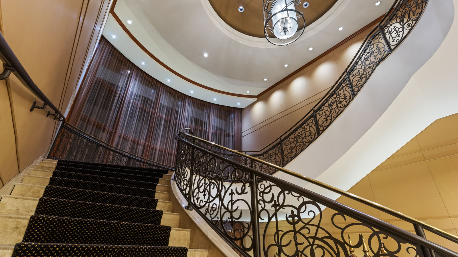 Staircase at New Orleans hotel