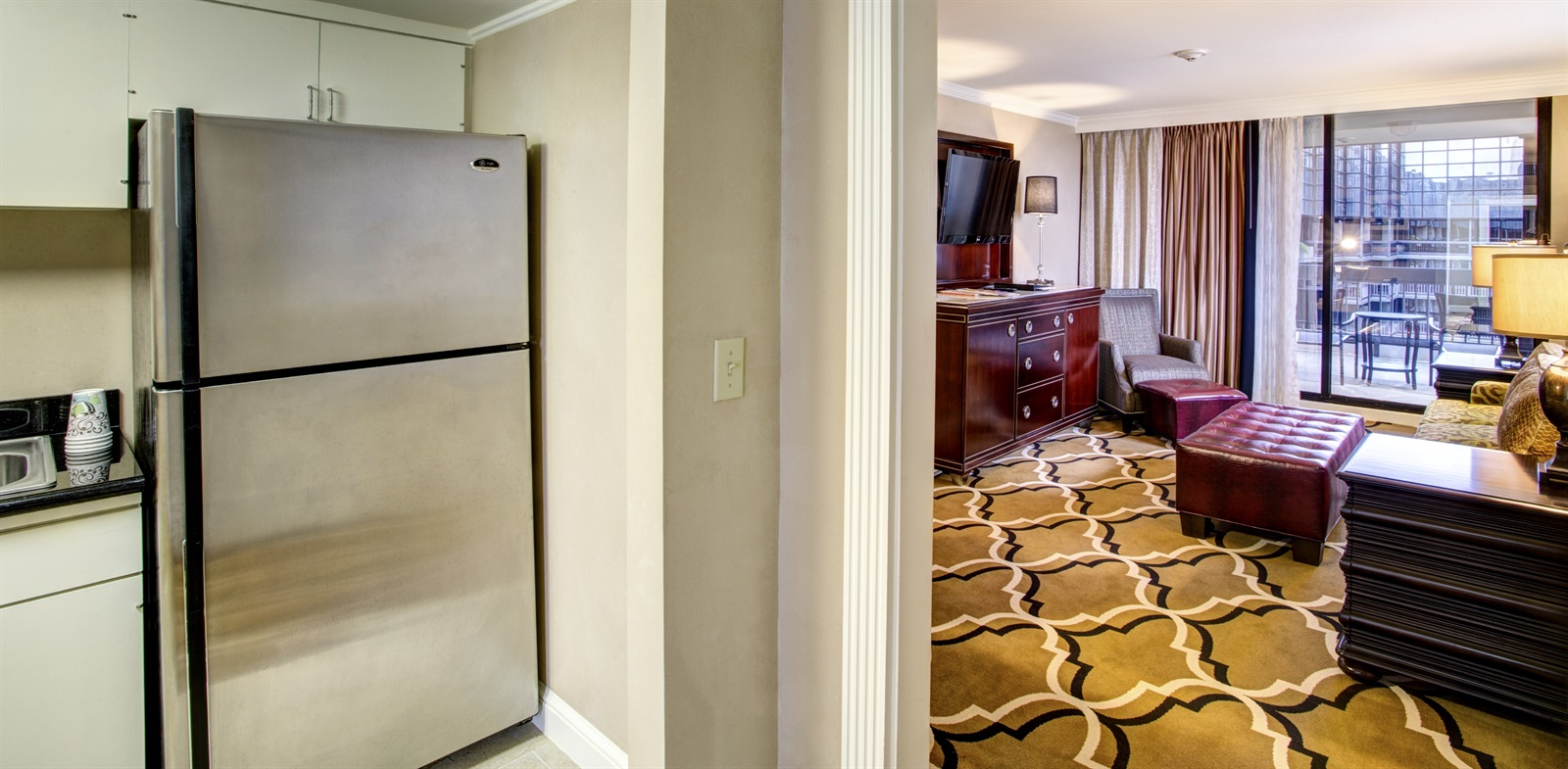 Large suite in New Orleans hotel